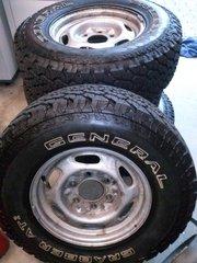 4 X 4 Tyres on Rims