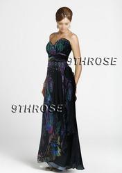 SO FASCINATING! SWEET HEART FLORAL BLACK BEADED DRESS